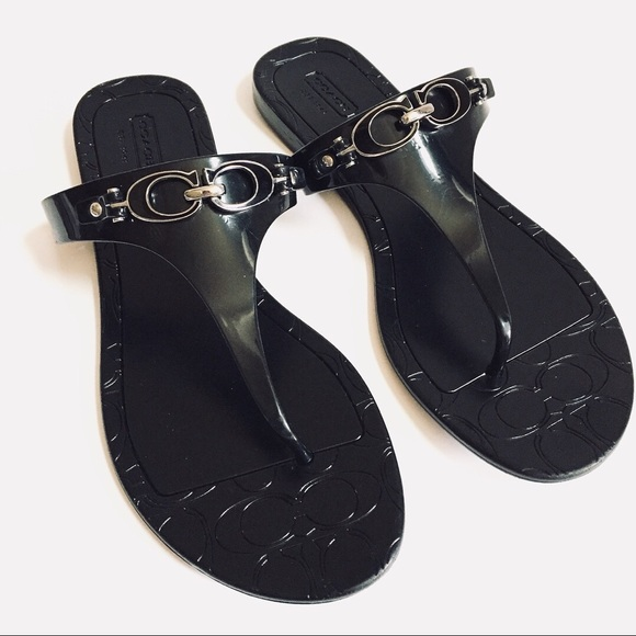 d9daed6ab9b Coach Shoes - Coach black thong sandals